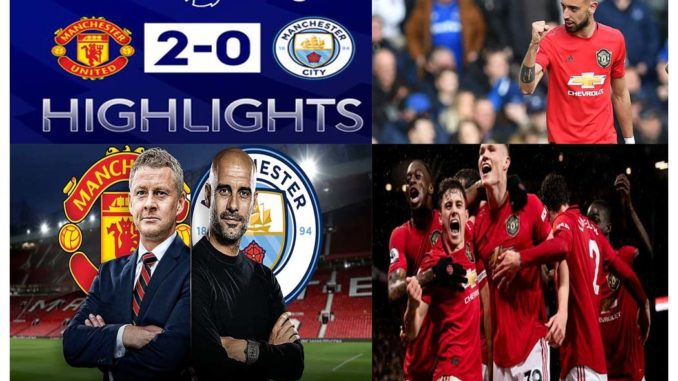 Manchester united won the Derby Game over Man City 2-0 - Highlights 2020