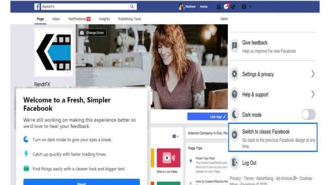 Facebook Classic Mode Settings - How to Switch Back to Facebook Classic View | Facebook Dark Mode