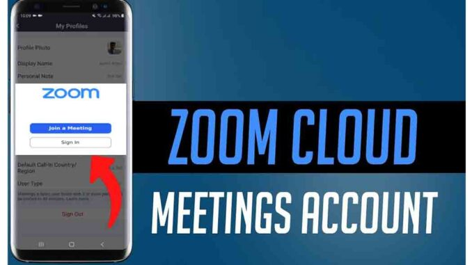 How to Sign in Zoom Cloud Meeting With Your Zoom Account