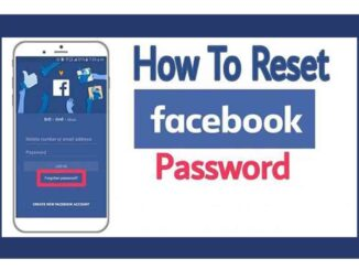 How to Reset Facebook Password and How to Change Facebook Password