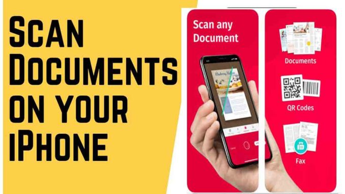 iPhone Document Scanner - Free Scanner App For iPhone to PC